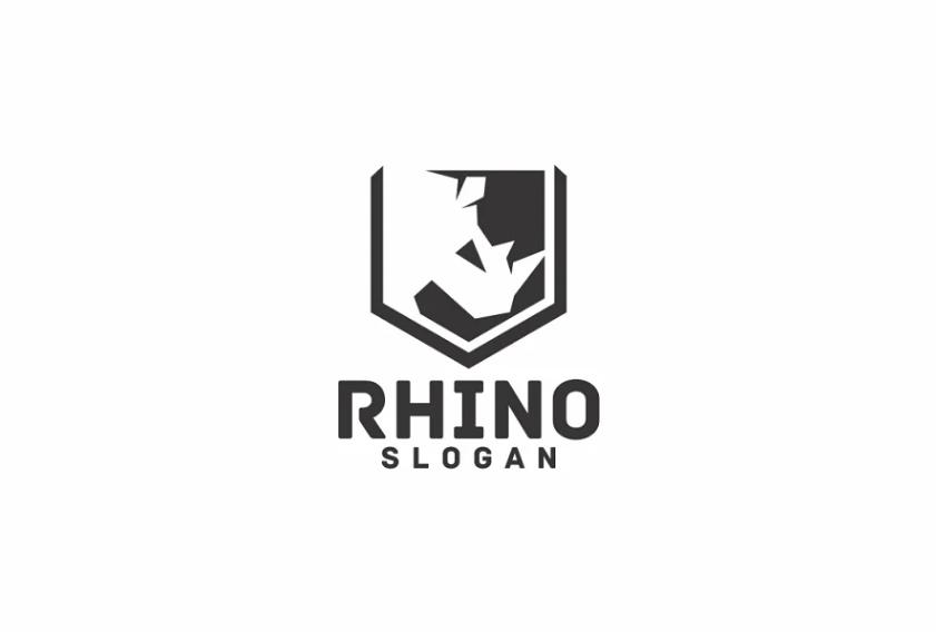 Shield Style Rhino Identity Design