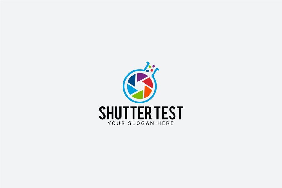 Shutter Style Test Tube Logo