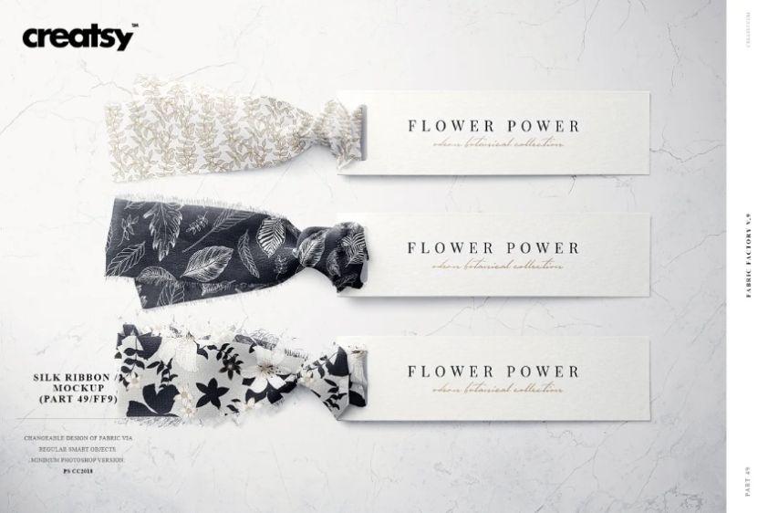 Silk Ribbon Design Presentation PSD
