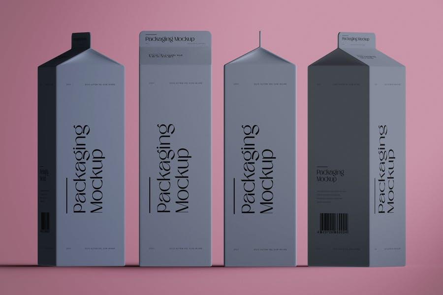 Simple Carton Mockup PSD