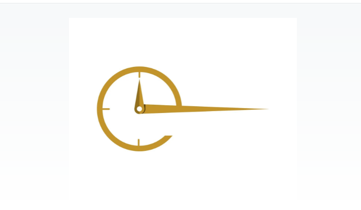 Simple Cloc Logo Design