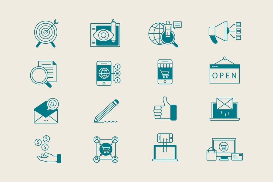 Simple Digital Marketing Icons