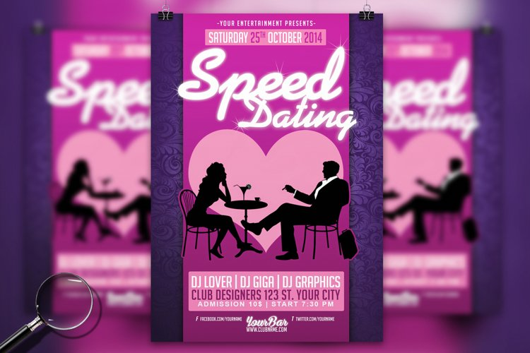 Simple Free Dating Flyer