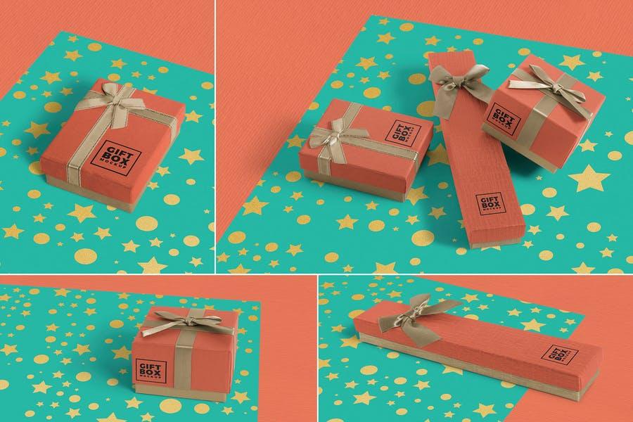 Simple Gift Box Design Mockup