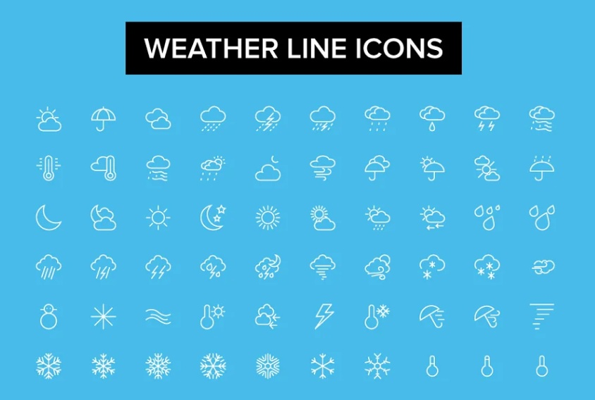 Simple Lined Vector Icons