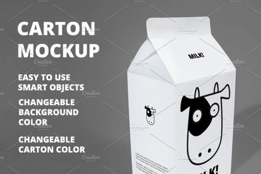 Simple Milk Branding Mockup