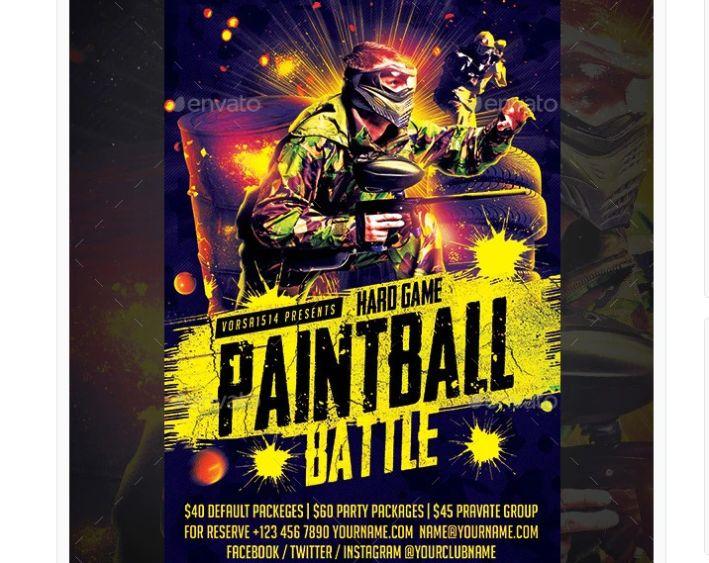 Simple Paintball Battle Flyer