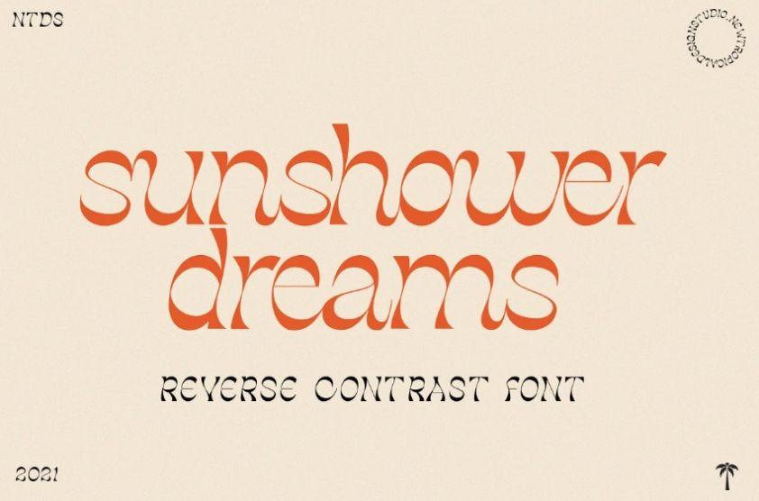 Simple Reverse Contrast Font