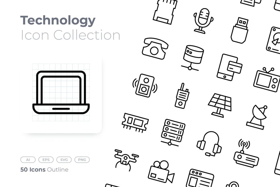Simple and Perfect Tech Icons