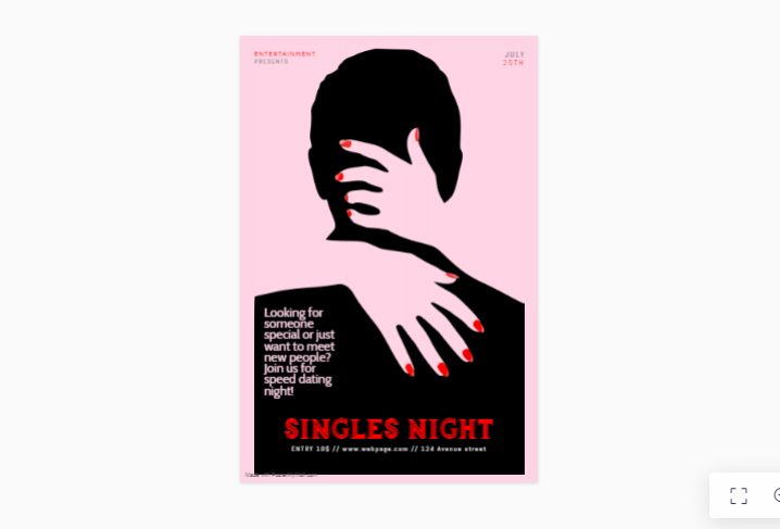 Singes Night Flyer Template