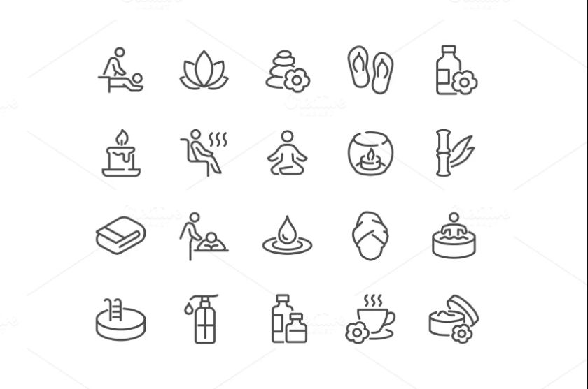 Skin Care and Cosmetics Icons