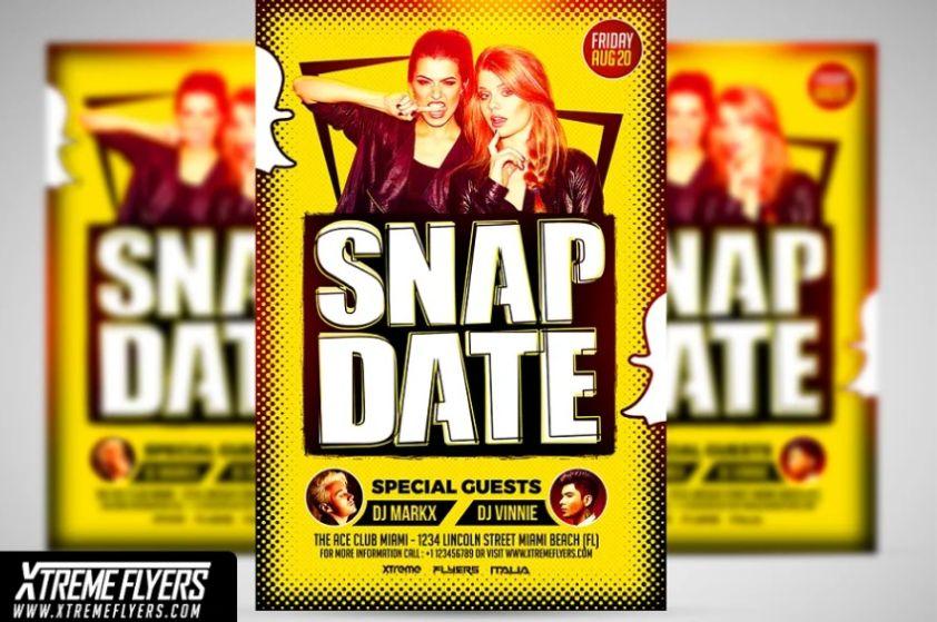 Snap Date Flyer Template PSD