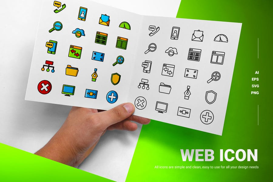 Solid and Outline Web Dev Icons