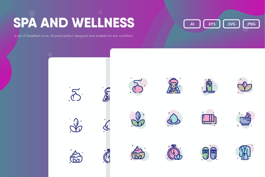 Spa and Wellness Vector Elements