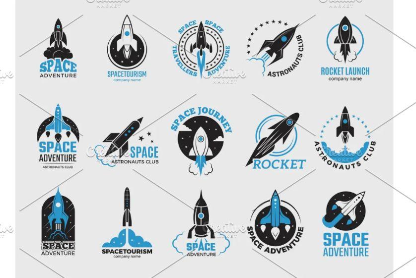 Space Ship Logo Design