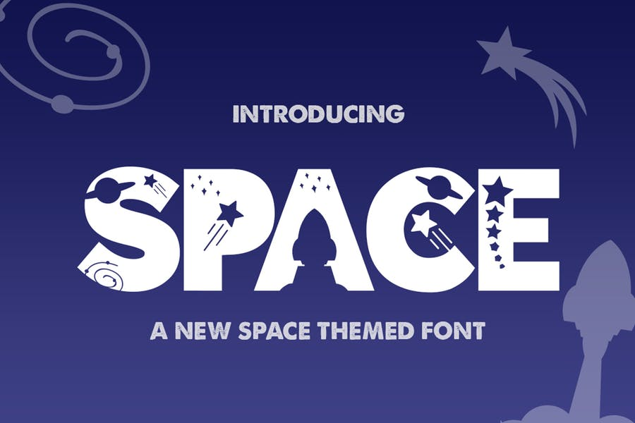 Space Themed Creative Fonts