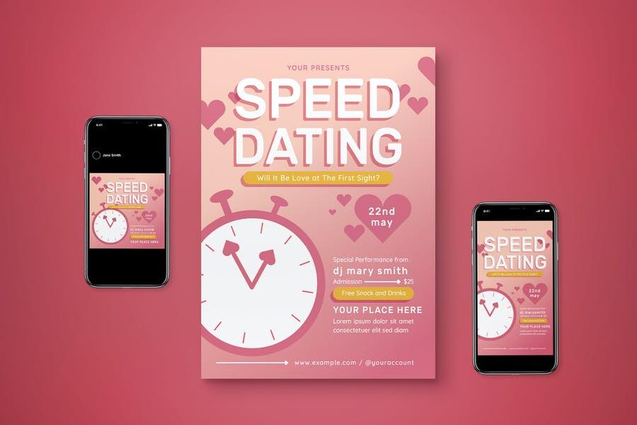 Speed Dating Advert Set