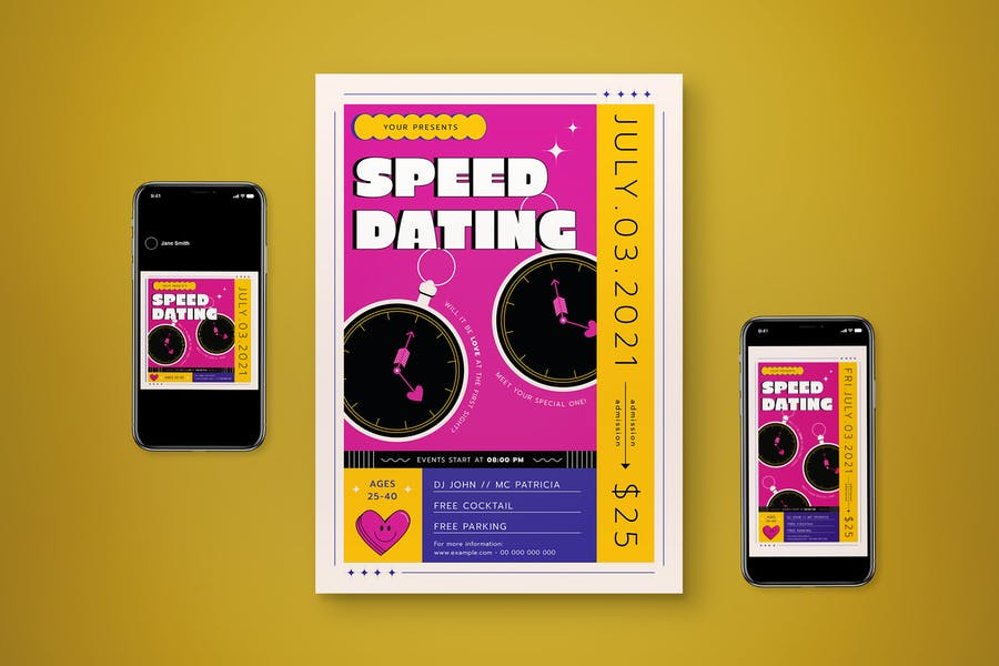 Speed Dating Promotional Templates