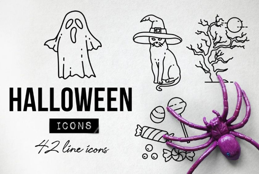 Spooky halloween Party Elements
