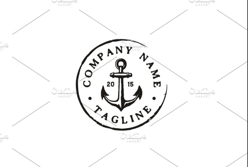 Stamp Style Rustic Logo