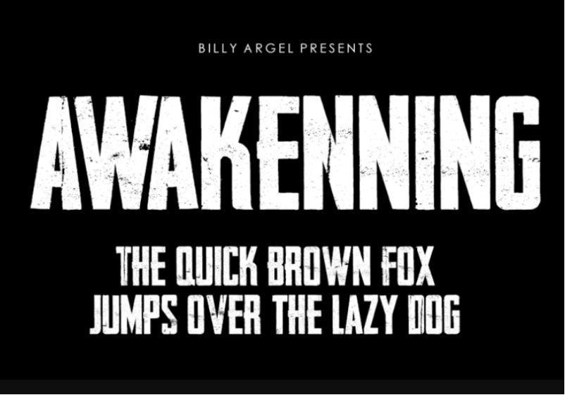 Tall Awakening Fonts