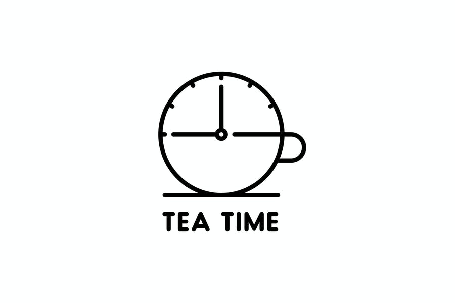 Tea Time Logo Template