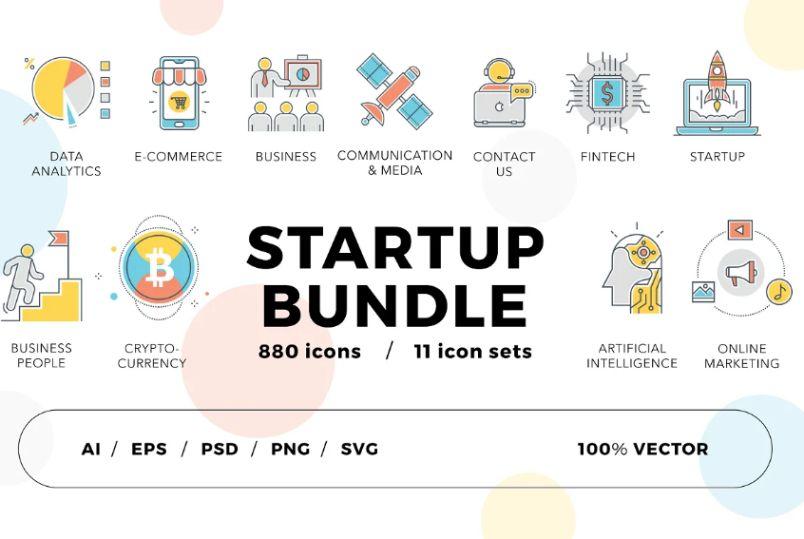 Tech Startup Icons BundlTech Startup Icons Bundlee