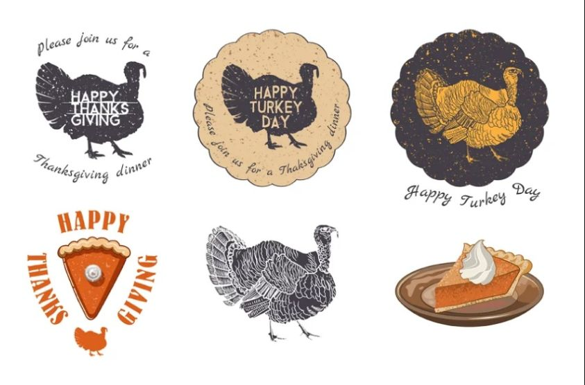 Thankgiving Day Vector Elements