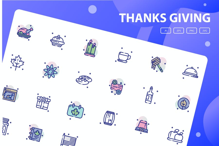 Thankgiving Vector Icon Pack