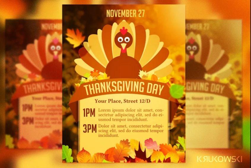 Thanksgiving Day Poster Design