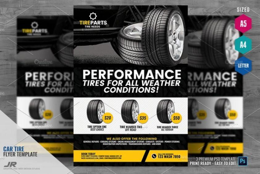 Tire Repair Services Flyer