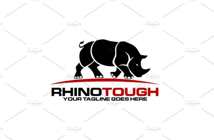 Tough Style Rhino Logotype Design