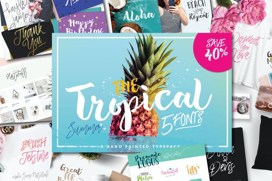 Tropical Fonts Bundle