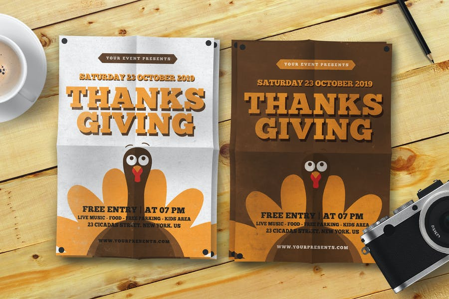 Two Customizable Thanksgiving Poster