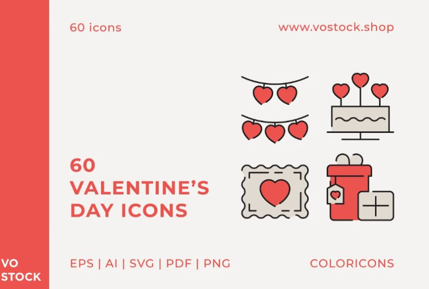 Valentines Day Vector Icons