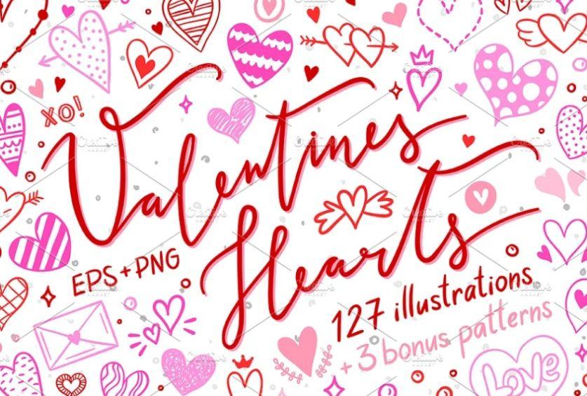 Valentines Heart Illustration Design