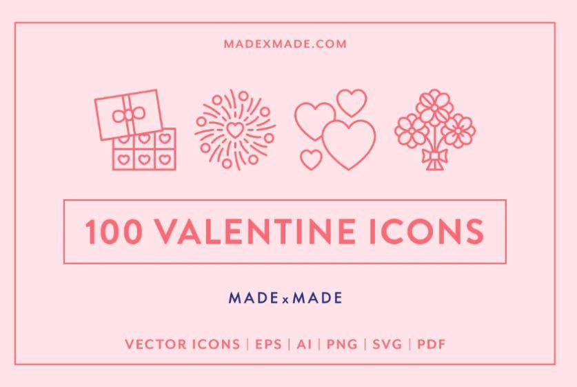 Valentines's Day Icons Set