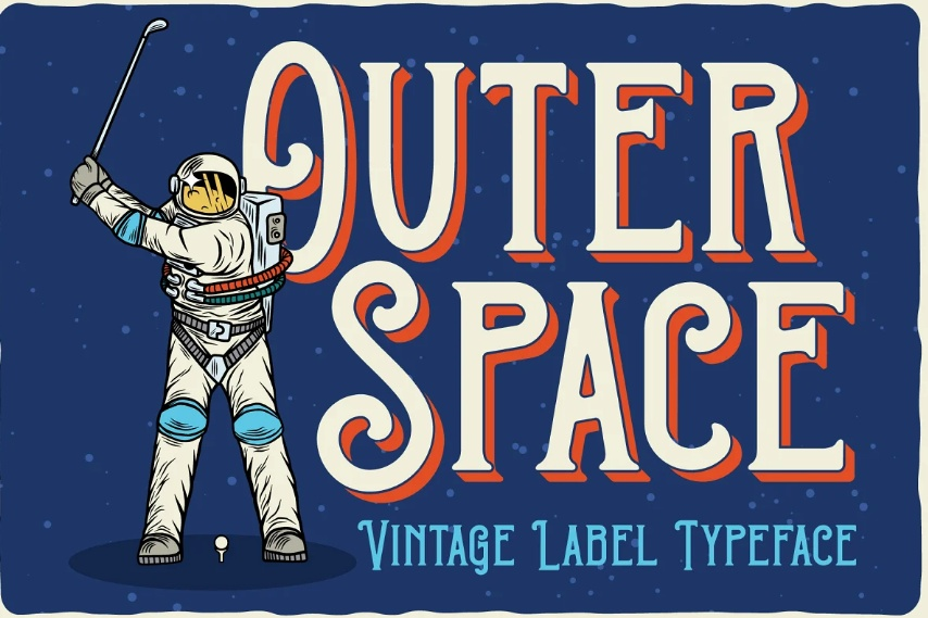 Vintage Outer Space Fonts