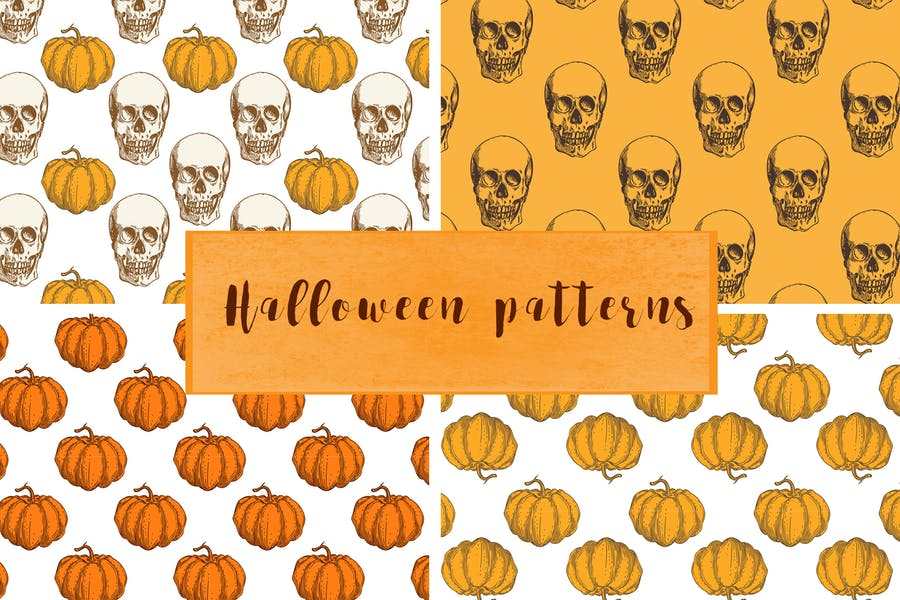 Vintage Style halloween Backgrounds