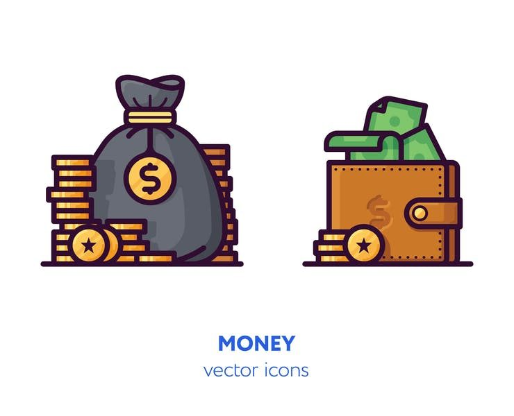 11+ FREE Money Icons Vector Download