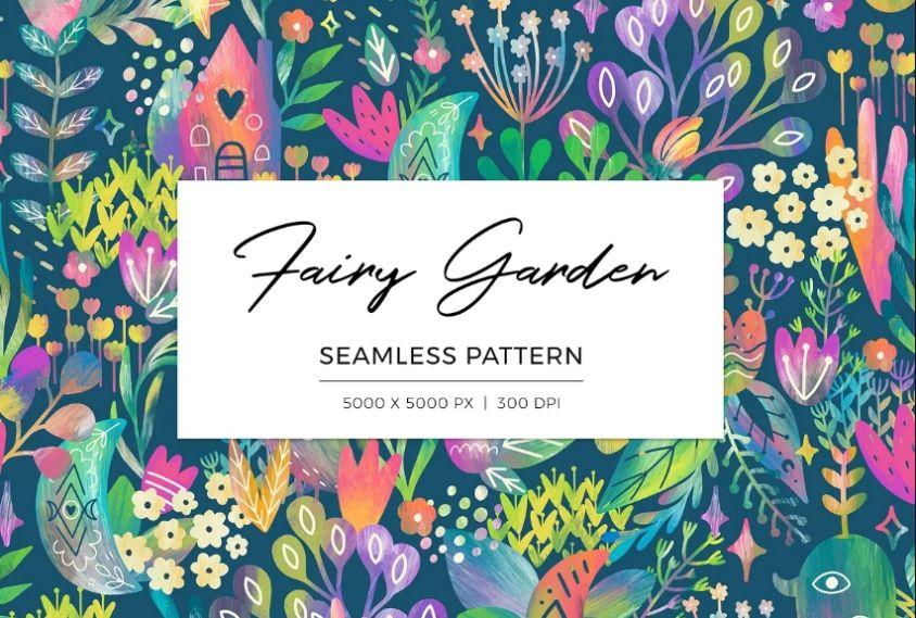 Watercolor Style Seamless Pattern