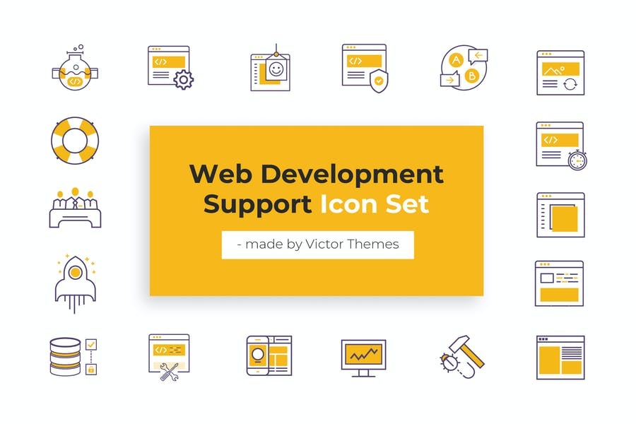 Web Development Support Icons