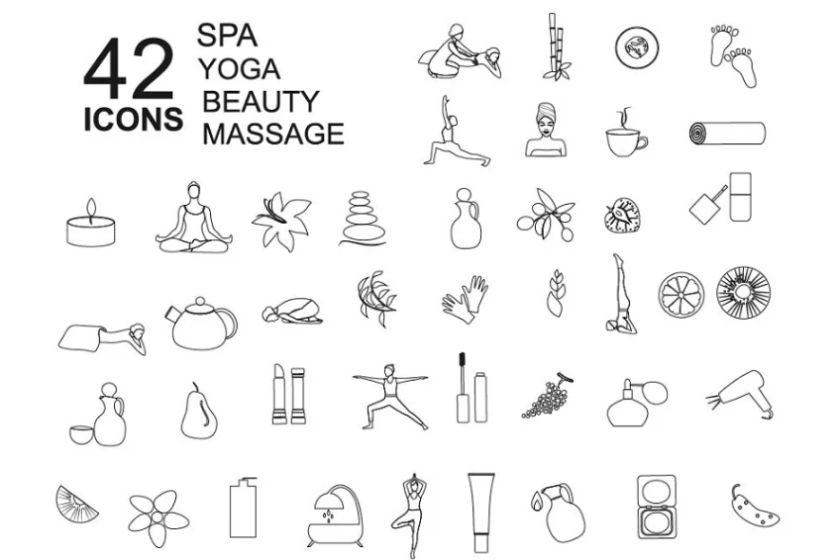 Yoga and Massage Icons