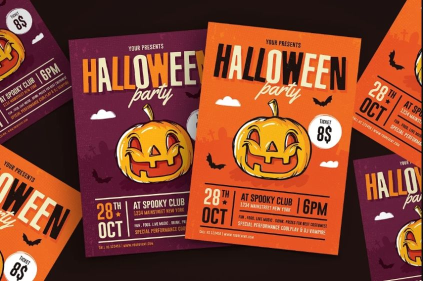 Halloween Party Event Flyers
